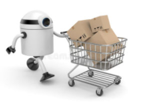 Робот с корзиной