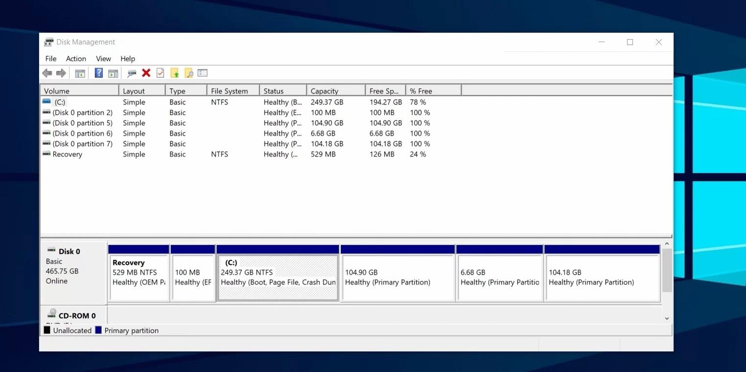 Disk-Windows-10
