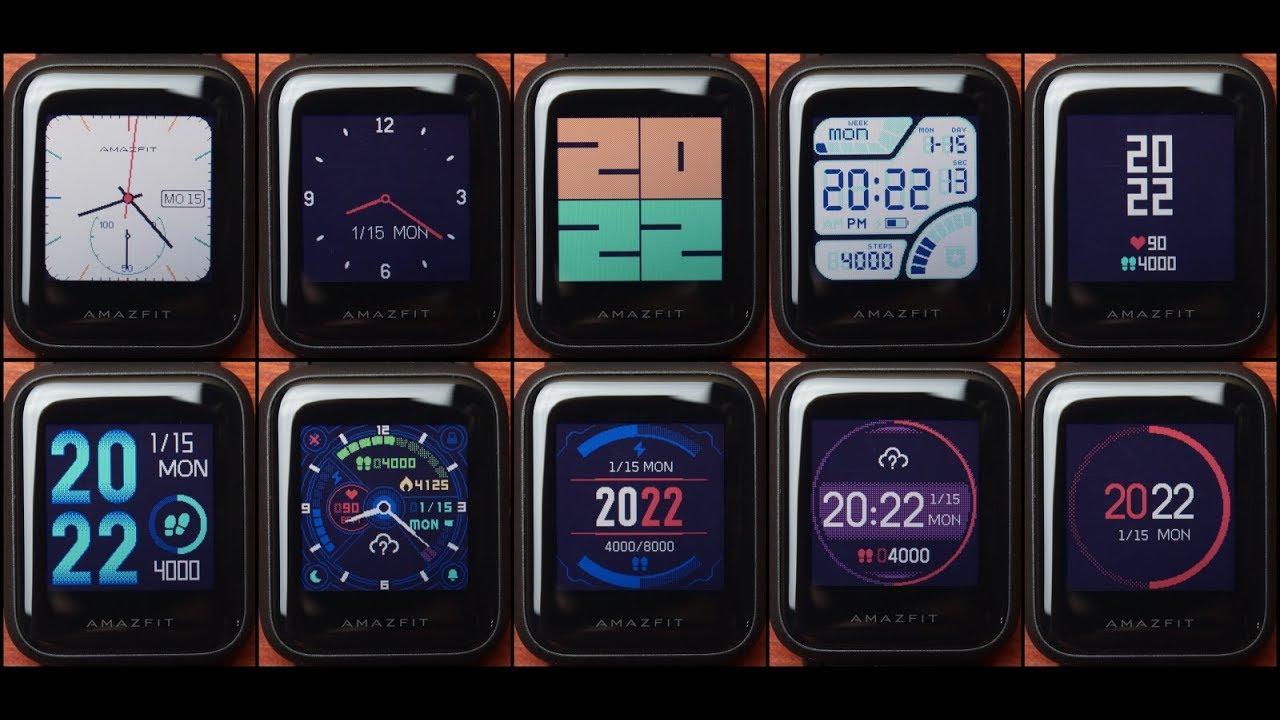 Xiaomi Amazfit Bip циферблаты